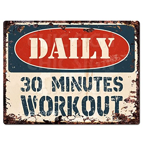 DAILY 30 MINUTES WORKOUT Chic Sign Vintage Retro Rustic 9
