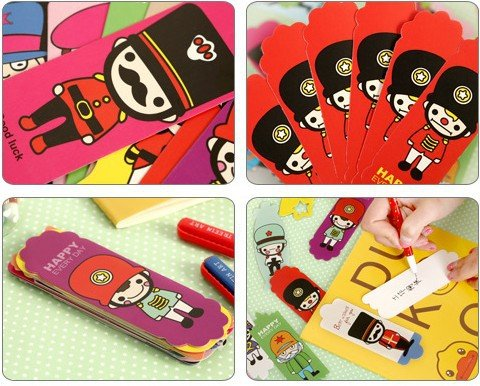 Vintage DIY Multifunction Soldier Cute Paper Bookmark Book Markers /Office of School/ 108sheets /Lot by Office & School Supplies YingYing (Image #3)