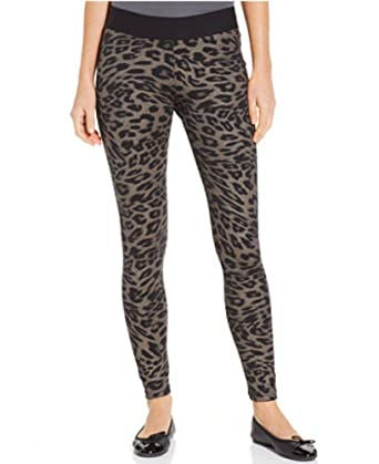 2a6568f1d0cc8b Image Unavailable. Image not available for. Color: HUE Women's Animal Print  Ponte Leggings ...