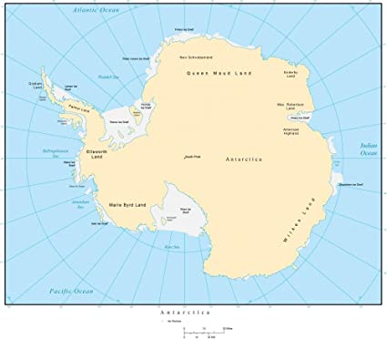 Amazon Com Wallmonkeys Political Map Of Antarctica Wall Decal Peel