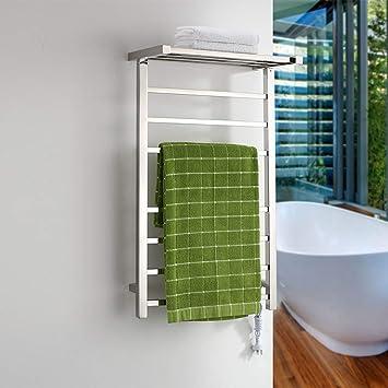 COL PETTI Eléctrica toallero Rack baño tendedero, Pared montada Escalera de Acero Inoxidable calienta Toalla Rail 920 * 520 * 300: Amazon.es: Hogar