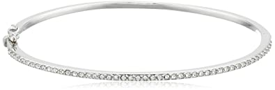 bangles cut wide bracelet product hinged princess sterling diamond simulated silver hinge bangle