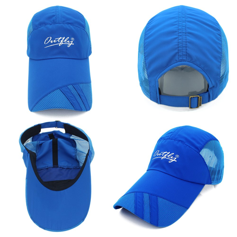 c720416720bf5d Gracelife Lengthened Brim Cap Unisex Sun Protection Baseball Cap Adjustable  Breathable Long Large Bill Cap (Blue) at Amazon Men's Clothing store: