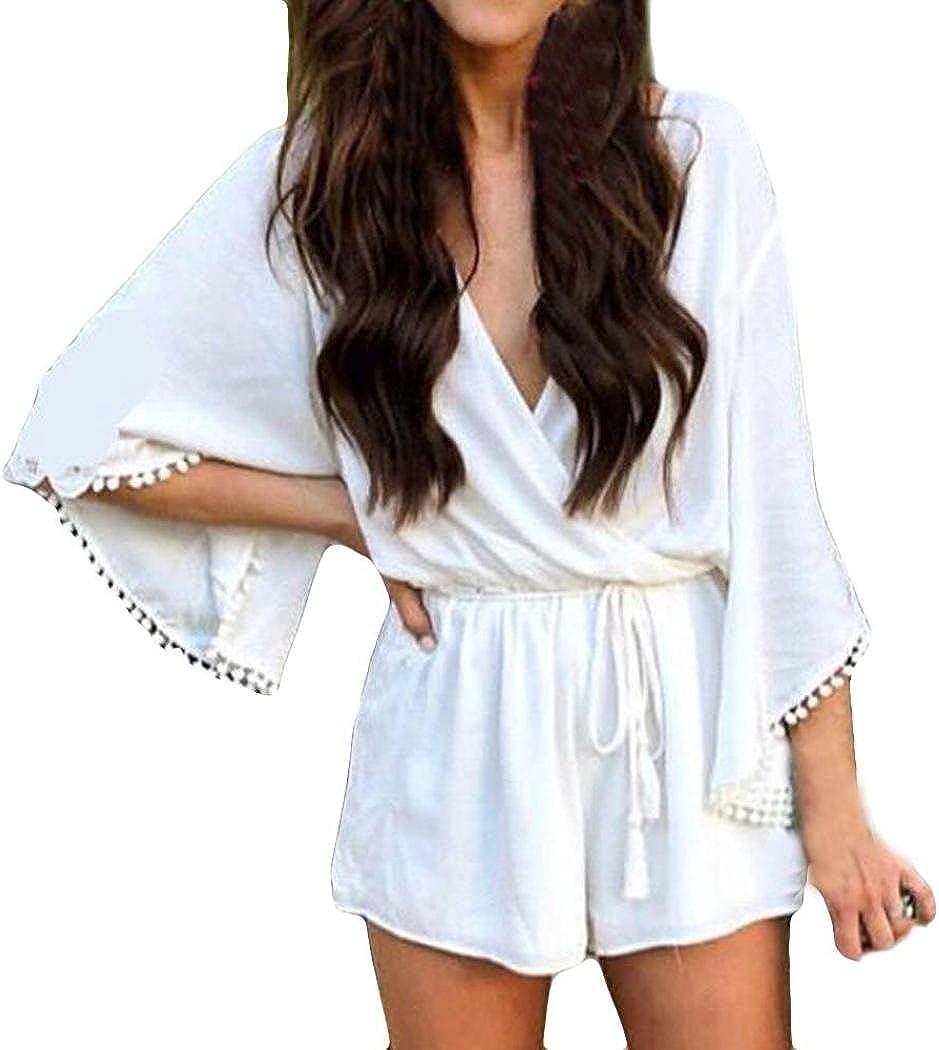 Vintage fl Print Boho Jumpsuit tie up Backless Long Jumpsuit Holiday Beach Wide Leg Overalls