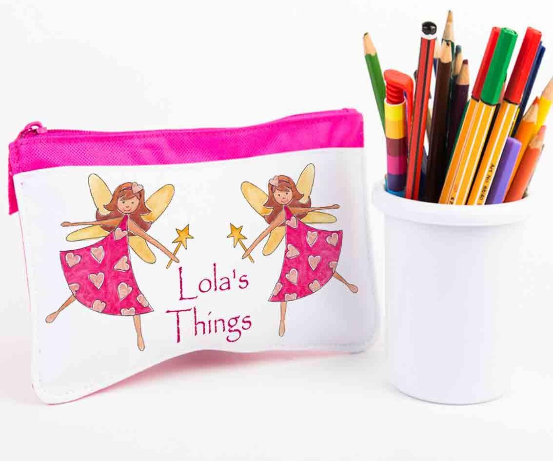 Personalised Pencil Case,Pencil Cases,Back To School,School Pencil Case,Fairy Girl tigerlilyprints
