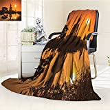 AmaPark Digital Printing Blanket YogaGiant Statue by the River at Thai Asian Culture Scene Yin Yang Summer Quilt Comforter
