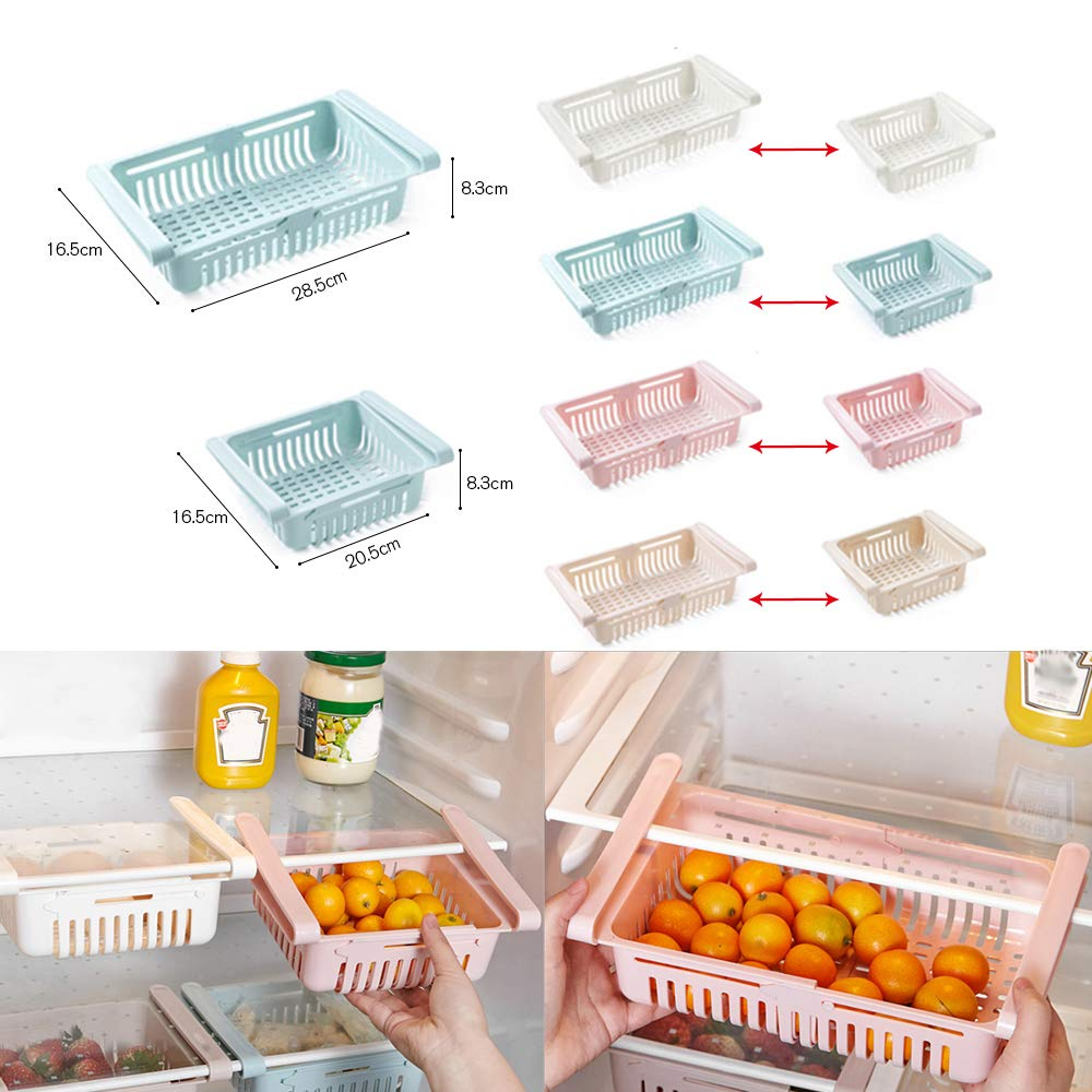 Cajón retráctil para refrigerador, cocina cubo de almacenamiento ...