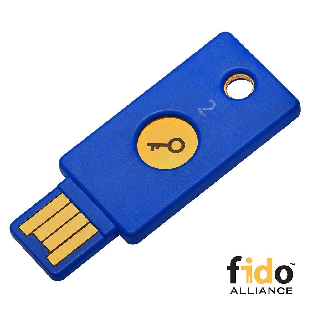 Yubico Security Key - U2F and FIDO2, USB-A, Two-Factor Authentication Y-255