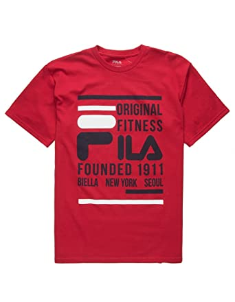 49f92688a Fila Men's Original Fitness Athletic Shirt, Chinese Red, ...
