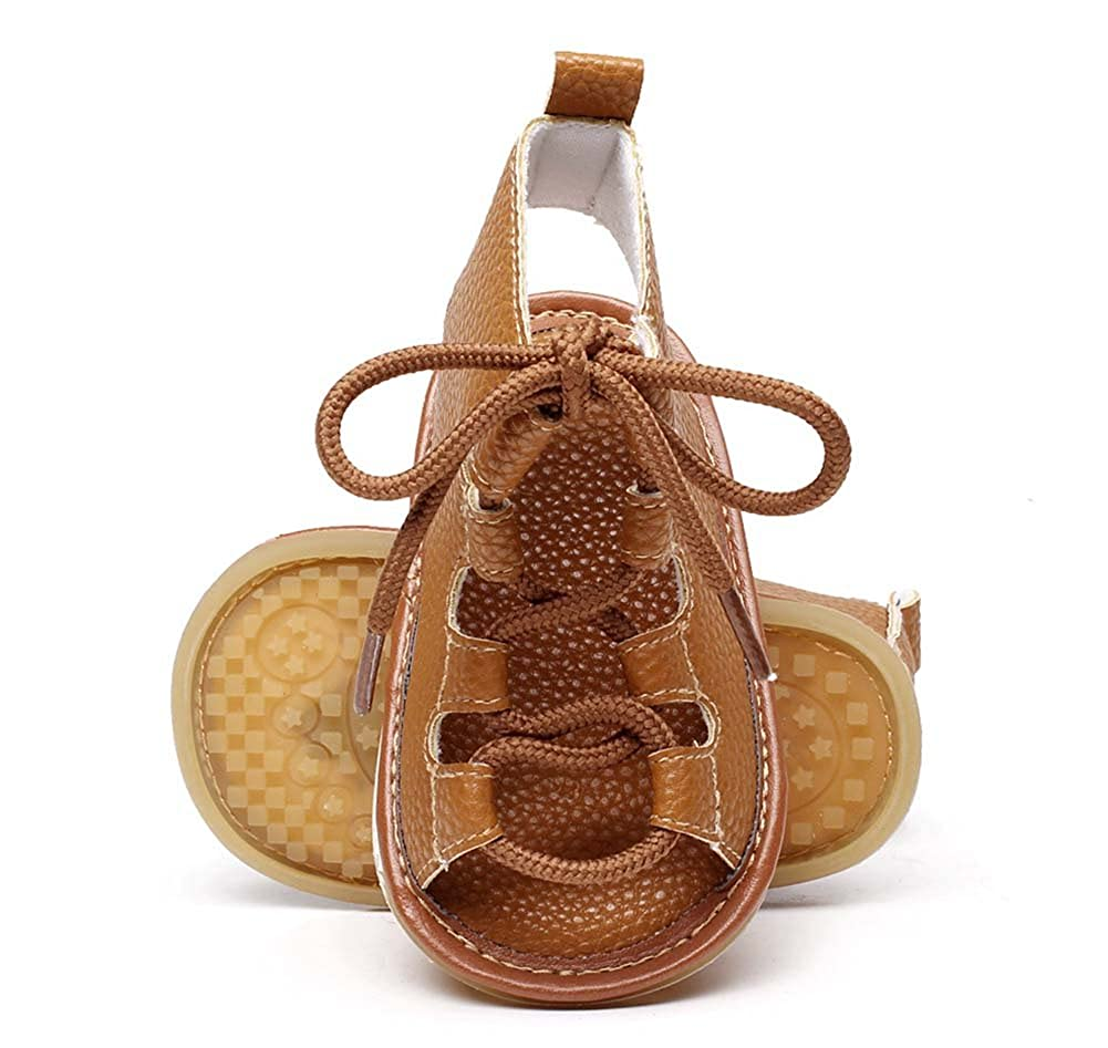FLT Gladiator Sandals Toddler Baby Girl Roman Sandles Flip Flops Hollow Out Boots Summer Shoes Brown