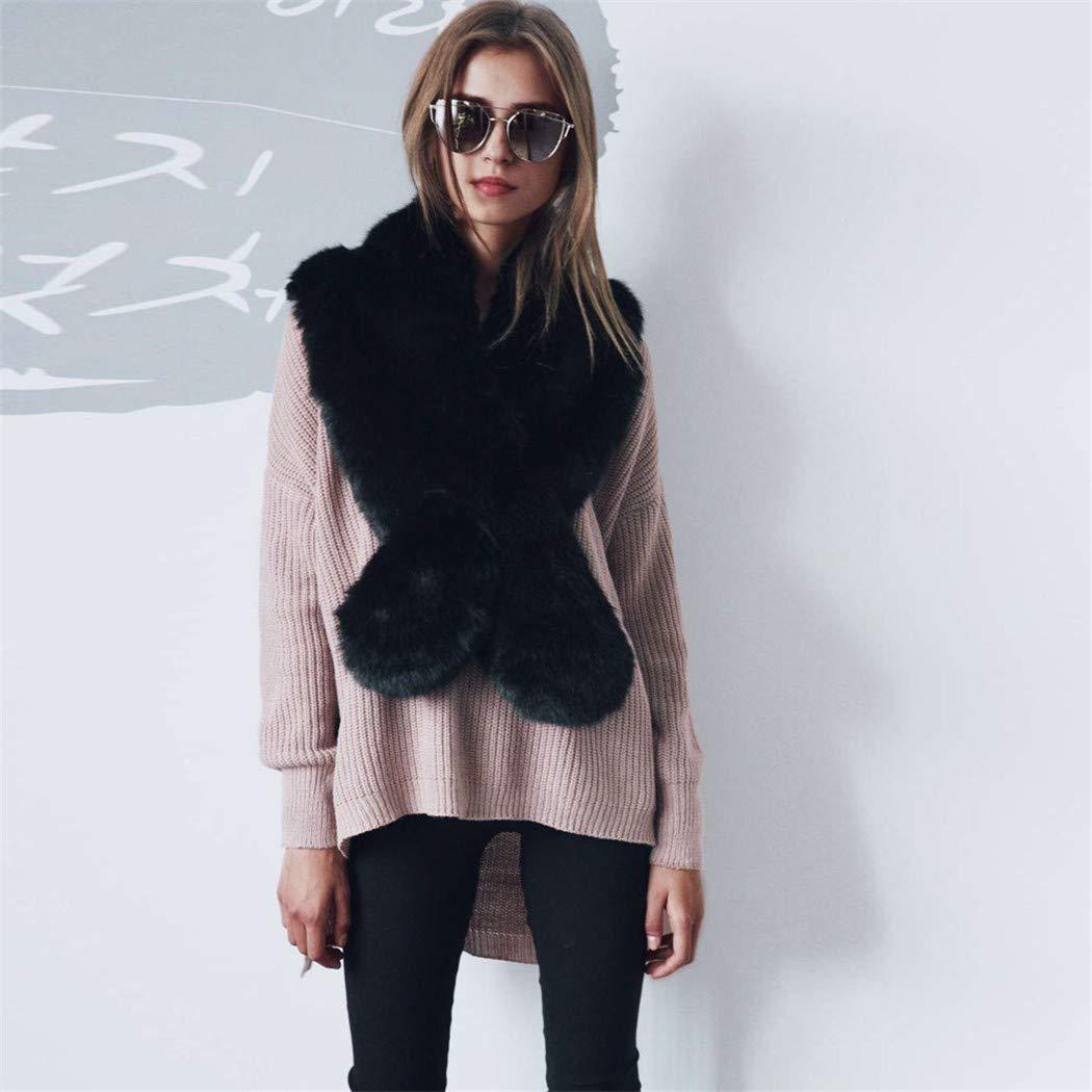 WDYBXYL Bufandas De Invierno La Moda Femenina Femenina Femenina Faux Fur Collar Un Mantón Keep Warm 86d297