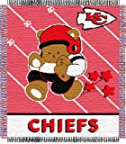 "Kansas City Chiefs Triple Woven Jacquard NFL Throw (Baby Series) by Northwest (36""""x48"""")"