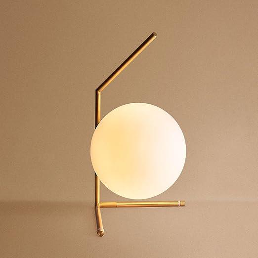 Lámpara de mesa de cristal de la bola de cristal minimalista ...
