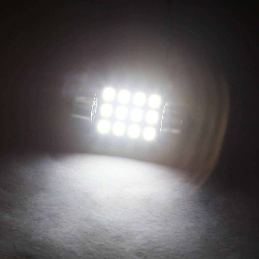 Amazon.com: DealMux 2PCS Ultra Branco 36MM 2835 12SMD Festoon Dome Mapa Interior LED Light Bulb: Automotive