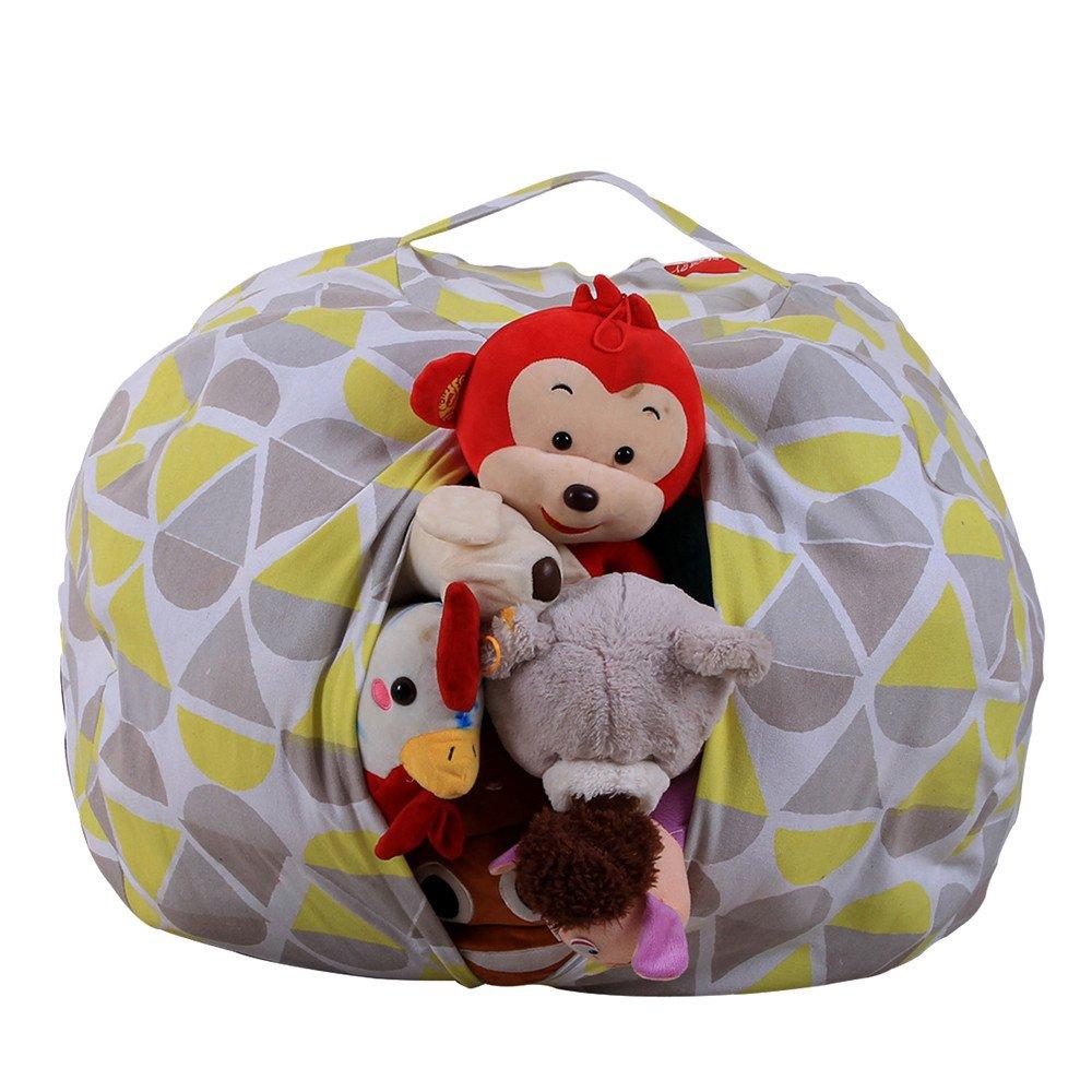 Spielzeug Aufbewahrungstasche, Stofftier Kuscheltiere Aufbewahrung Aufbewahrungstasche Sitzsack Kinder Soft Pouch Stoff Stuhl (Mehrfarbig-1) Holeider