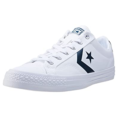 c01297f3269d Converse Womens Star Player Ox White Athletic Navy Canvas Trainers 7 US