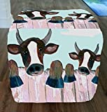 Fence Cows Ottoman From My Art