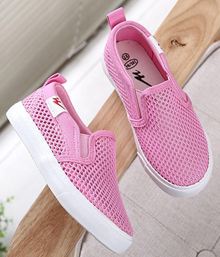 VECJUNIA Boys Girls Breathable Mesh Slip On Flats Summer Shoes School Uniform