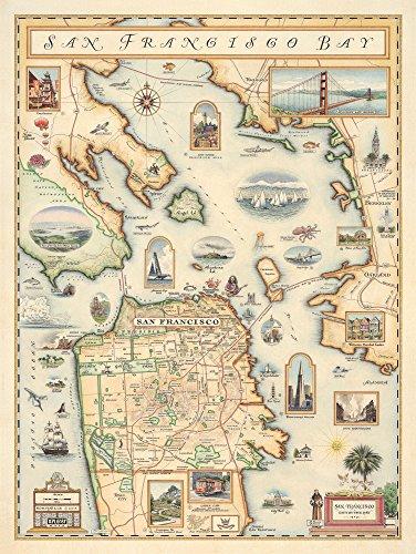 - Xplorer Maps San Francisco Bay Map Art Print