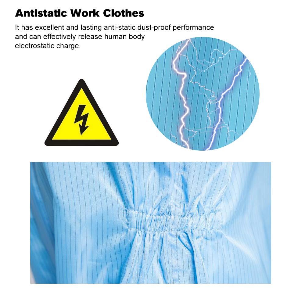 Security & Protection Workplace Safety Supplies Antistatic Work Clothes Spray Painting Medical Workers Anti-static Protective Suit Body Security Protection Dust-proof Suits Clients First