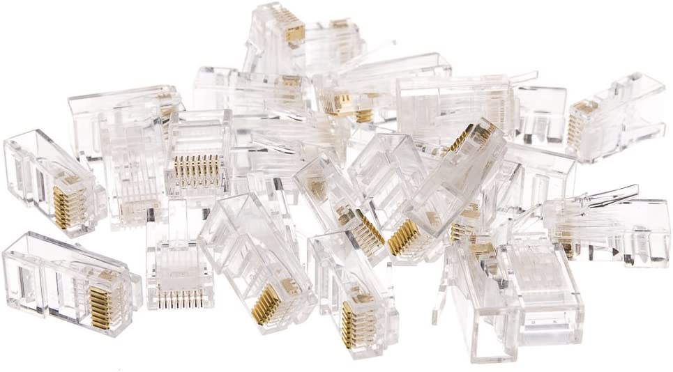 5 Pack ACL Cat6 RJ45 8P8C Crimp Connectors for Solid//Stranded Cable 100 Pieces//Pack