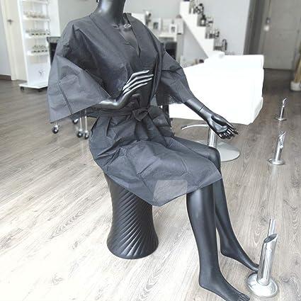 Kimonos Desechables Planethair Store® para Peluquería y Estética de 50 gramos, (Negro,