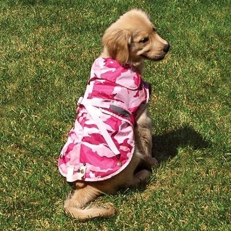 6b1b7860181b1 Amazon.com: Medium Pink Camo Dog Rain Coat Fits Dogs 22 - 32 Lbs [Misc.]:  Home & Kitchen