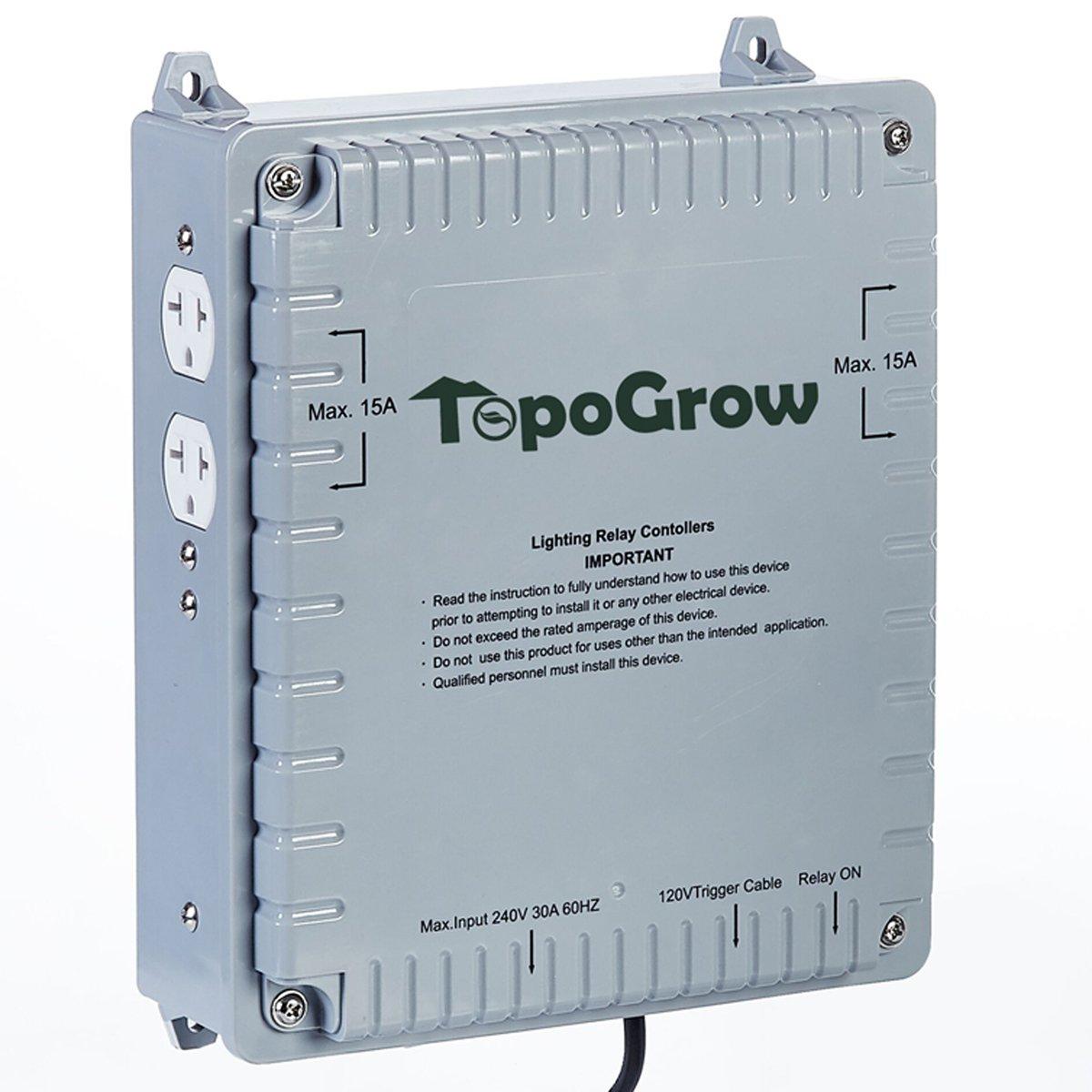 TopoLite Light Controller Bonsai Shears Grow Light Hangers Fan Speed Controller Timer CO2 Regulator Hydroponics Growing System Accessories (Light Controller 4 Outlet)
