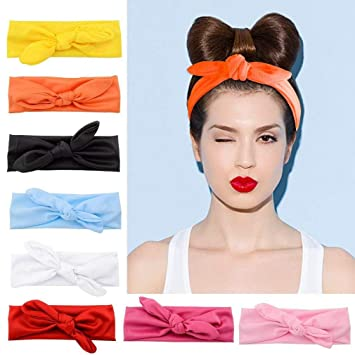 fd2bc372492 Amazon.com   TOBATOBA Women Headbands 8 Pack Turban Headwraps Hair Band  Bows Accessories for Fashion and Sports