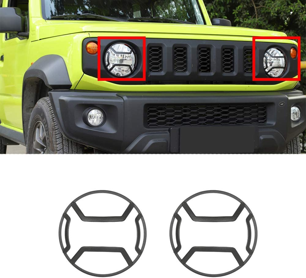 Jimny Carbon Fiber Hood Air Vent Cover Trim Hood Air Outer Vent Decorative Cover for Suzuki Jimny 2019-2020