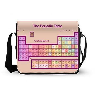 Unique Colorful Periodic Table of Elements Black Color Messenger Bag