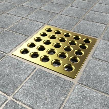 Ebbe E4410 Square Shower Drain Grate Satin Nickel