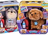 Two Puppies, Snuggles and Ruffles, My Dream Puppy Bundle, Perfect Gift Set with To/From mini Card & Envelope Little Live Pets Interactive Realistic Pups, like real live pets for kids