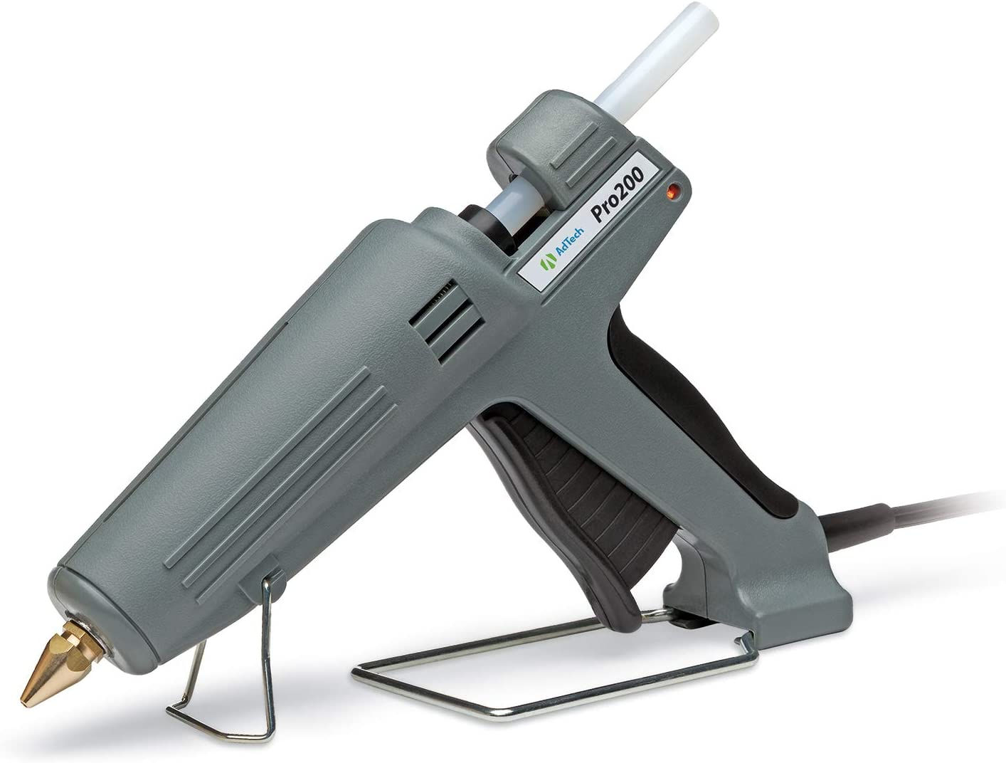 AdTech Pro200 Industrial Strength Full Size High-Output Hot Melt Glue Gun (0189) – Professional Grade Hot Glue Gun for Carpentry, Repairs & Remodeling - Power Glue Guns -