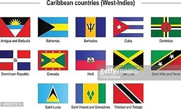 AES Las Islas del Caribe West Indies 2 x 3 de Bandera Set de 13 ...