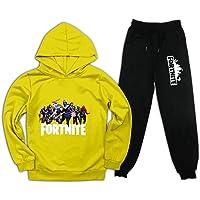 Fo-rt-ni-te - Conjunto de chándal para niños con capucha y pantalones de chándal de 2 piezas para niños y niñas