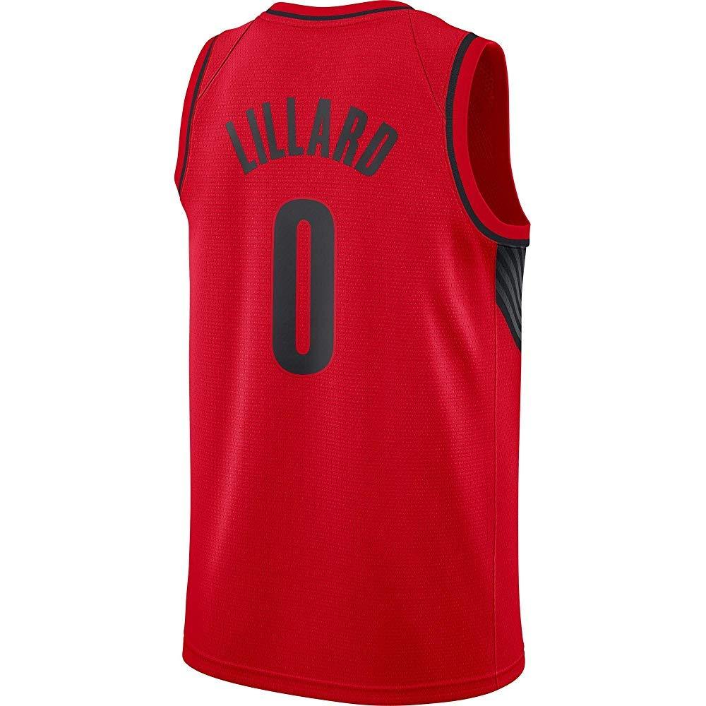 5cb12c7a0b99 Amazon.com  Damian Lillard Red Swingman Jersey  Clothing