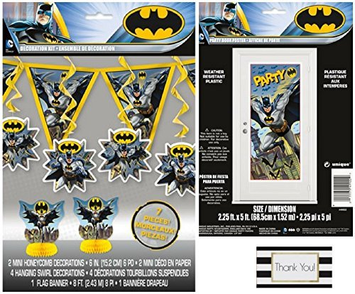 Batman 7 pc Decoration Kit and Large Door Poster by BT]()