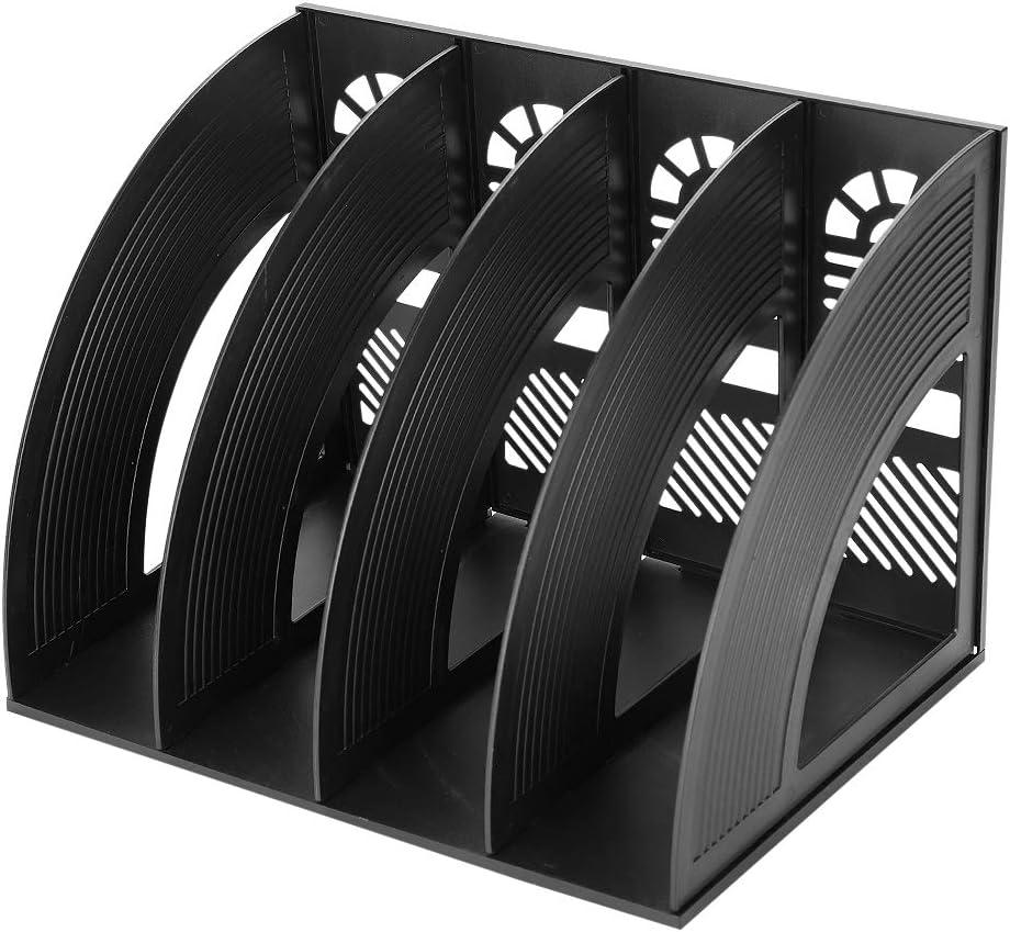Desktop File Organizer Basket, Office/Home Portable Vertical Upright 4 Compartment Storage Bins Crate Folder Holder for Office Supplies