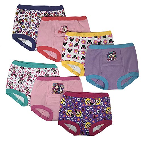 Disney Minnie Mouse Girls Potty Training Pants Panties Underwear Toddler 7-Pack Size 4T