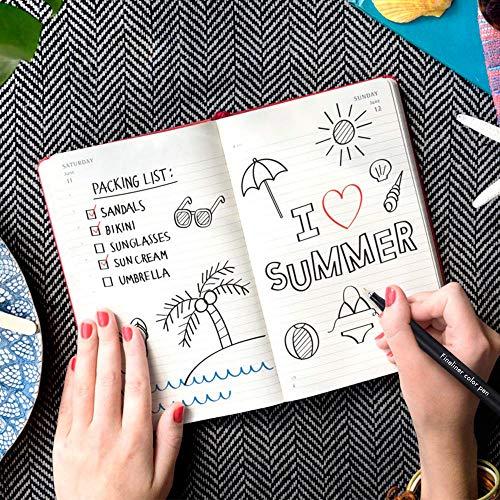 Bolígrafos para planificador de diario de 24 colores, marcadores de punta fina, bolígrafos de dibujo de punta fina, pluma Fineliner porosa para escribir en Diario, Oficina de Arte
