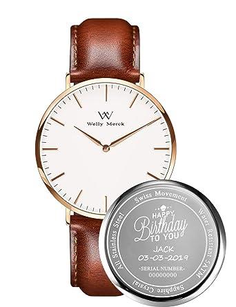 Amazon.com: Welly Merck - Relojes personalizados para hombre ...