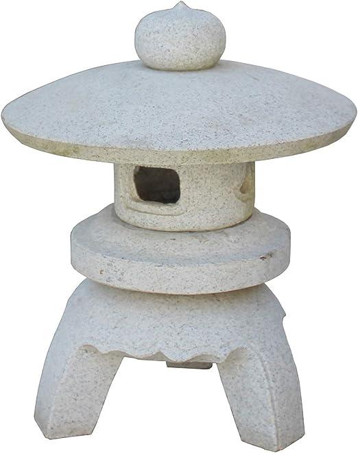 Stone Statue & Misc Farol Redondo para jardín con Piedra Blanca de ...