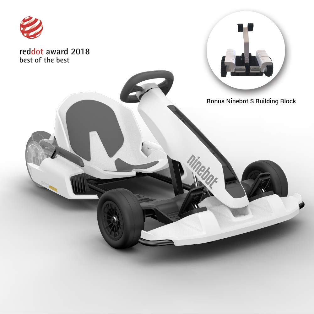 Ninebot Electric GoKart Kit for Segway miniPRO Ninebot S, 12.4 Miles Range, 15 MPH Top Speed, Mobile App Control, LED Lights Drifting Cart for Kids and Adult (Self Balancing Transporter Excluded)