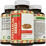 Psyllium Husk Capsules – 725 mg per Capsule of Psyllium Husk Fiber Cleanse – Psyllium Fiber Supplement is a Natural Laxative – Weight Loss + Digestion – Women & Men – California Products