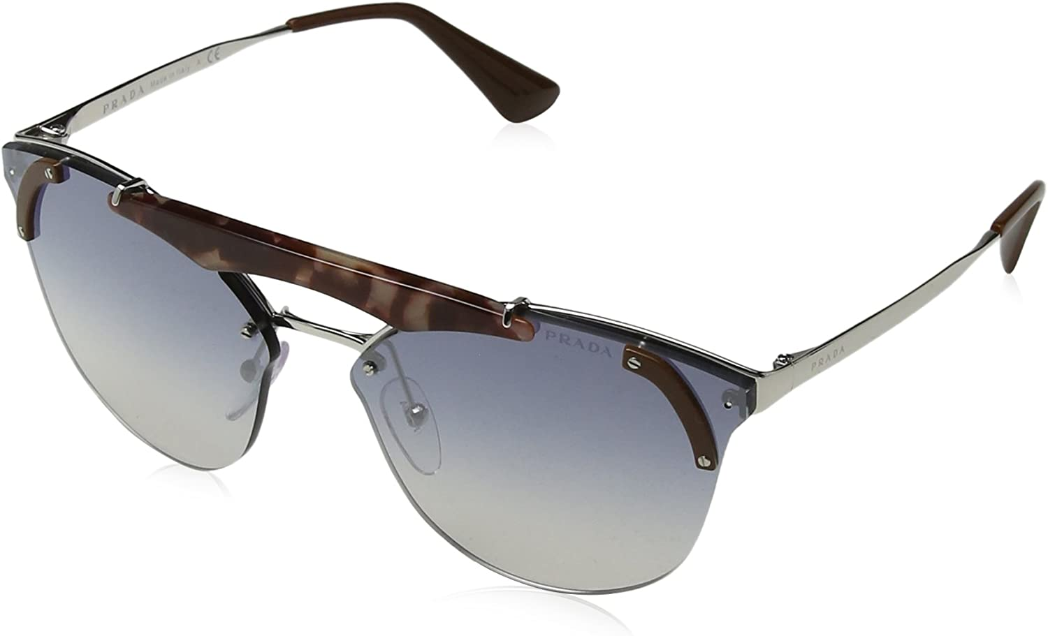 Prada 0PR53US C135R0 42 Gafas de sol, Marrón Pink Havana/Brown/Light Blue Silver, Mujer