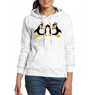 2 penguins Womens Hoodie Fleece Custom Sweartshirts
