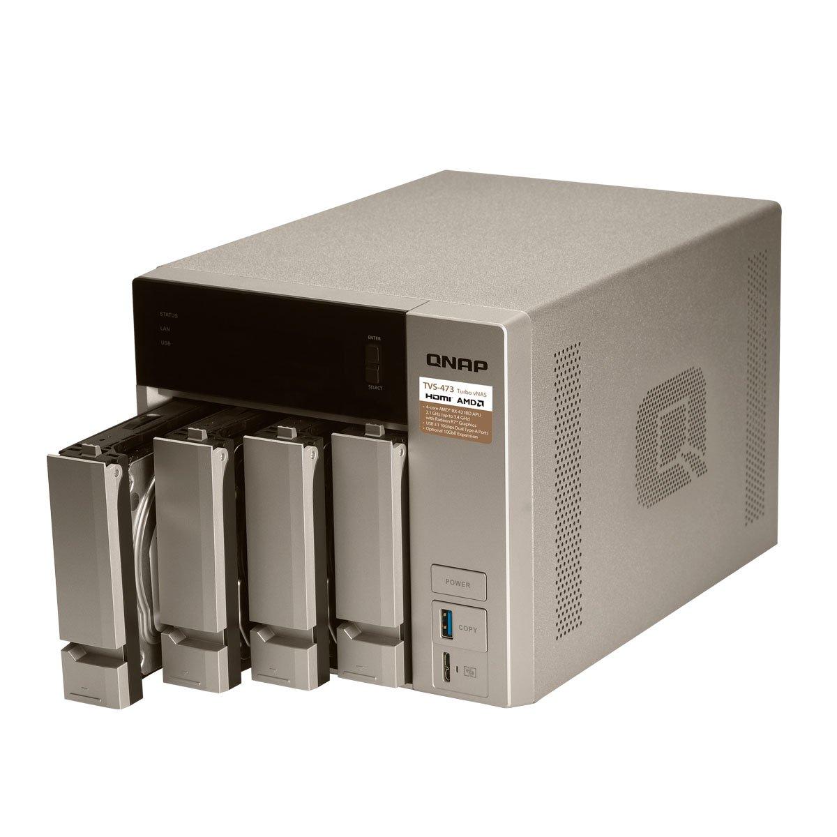 Qnap TVS-473-8G-US 4-bay NAS/iSCSI IP-SAN, AMD R series Quad-core 2.1GHz, 8GB RAM, 10G-ready by QNAP (Image #2)