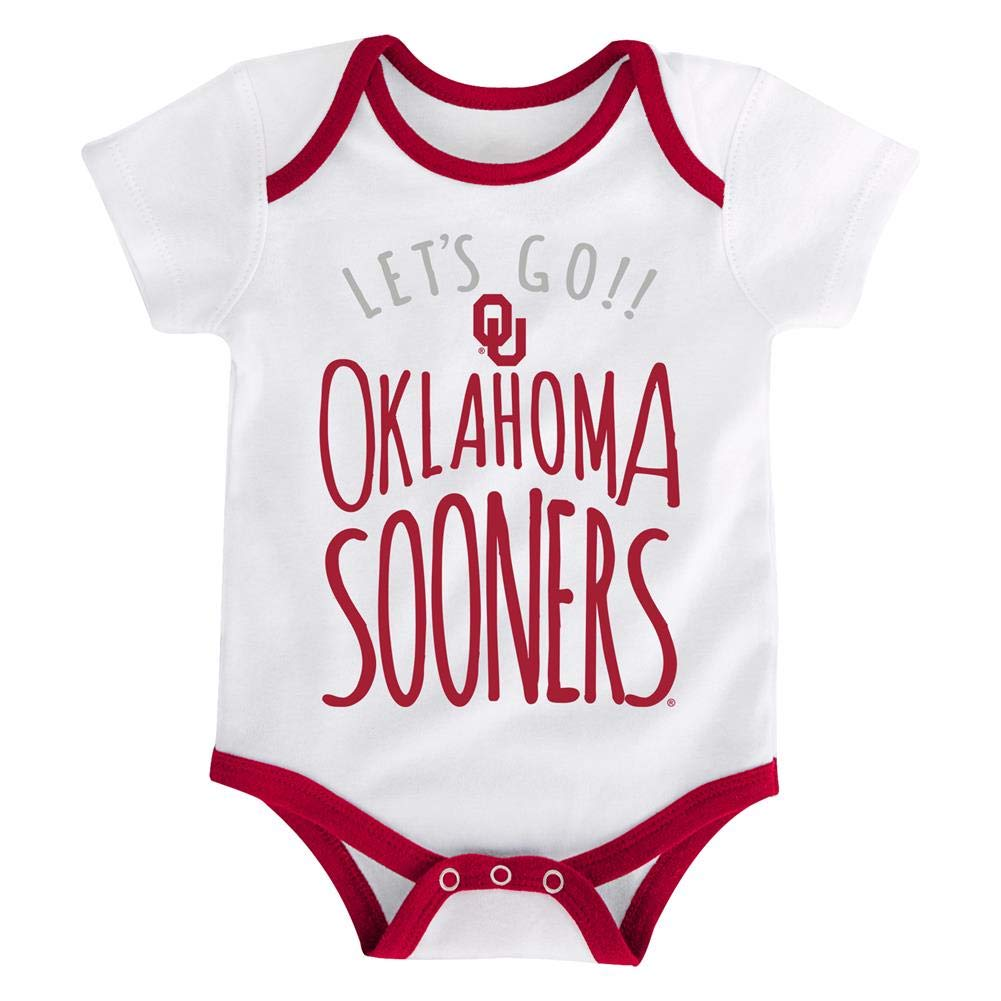 Outerstuff University of Oklahoma Sooners Infant Creeper Set Lil Tailgater 3 Pack