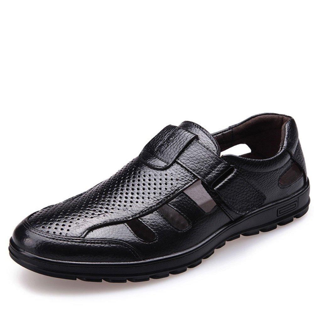 LEDLFIE Sandalias De De De Cuero Genuino De Los Hombres Recortes Zapatos De Los Hombres Ocasionales 5aed03
